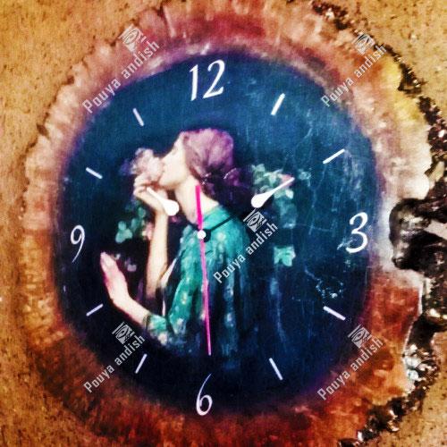 ساعت با چوب