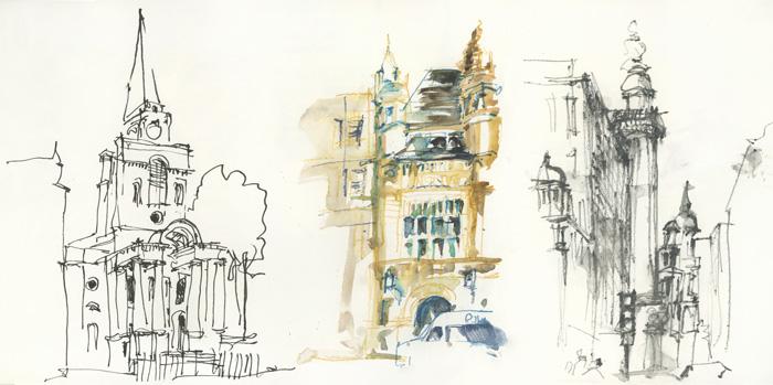 2mins sketches 1 - ۱۰ تمرین ضروری اسکیس برای معماران