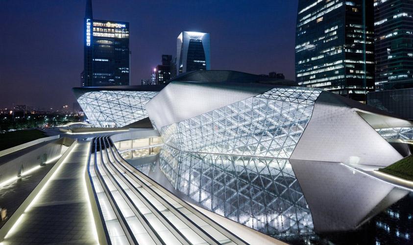 Gwangju  Opera - نورپردازی معماری زاها حدید