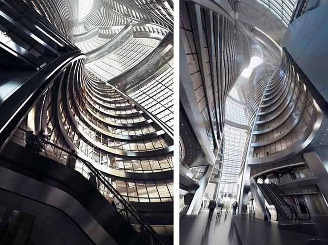 Leeza Soho Zaha Hadid - نورپردازی معماری زاها حدید