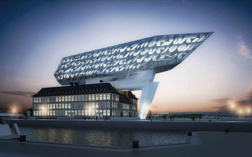 Port  House - نورپردازی معماری زاها حدید