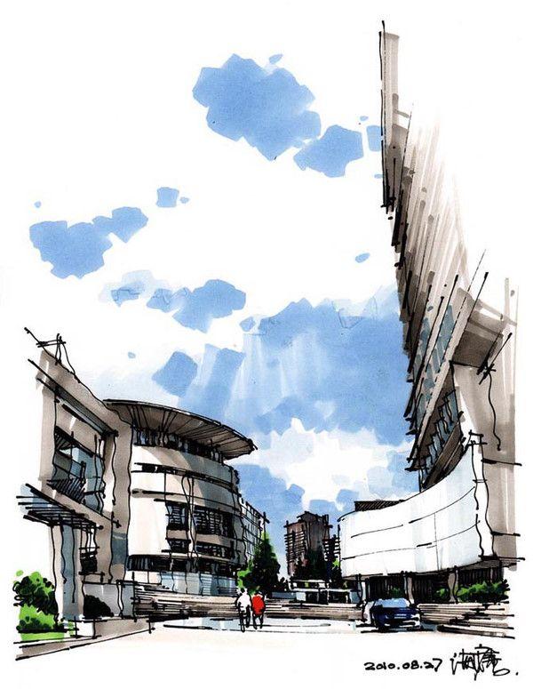 architectural sketching - ۱۰ تمرین ضروری اسکیس برای معماران