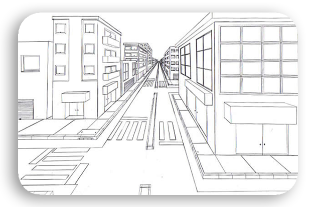perspective 5 - پرسپکتیو تک نقطه ای ، پرسپکتیو یک نقطه ای