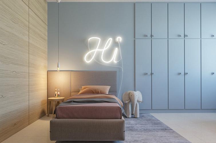 yellow blue room 1 - طراحی اتاق خواب کودک شیک