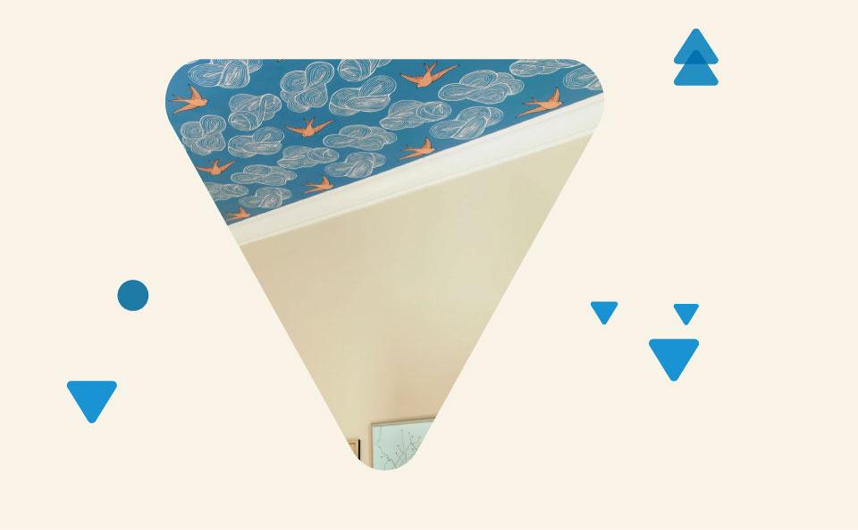 تزیین سقف با کاغذ دیواری