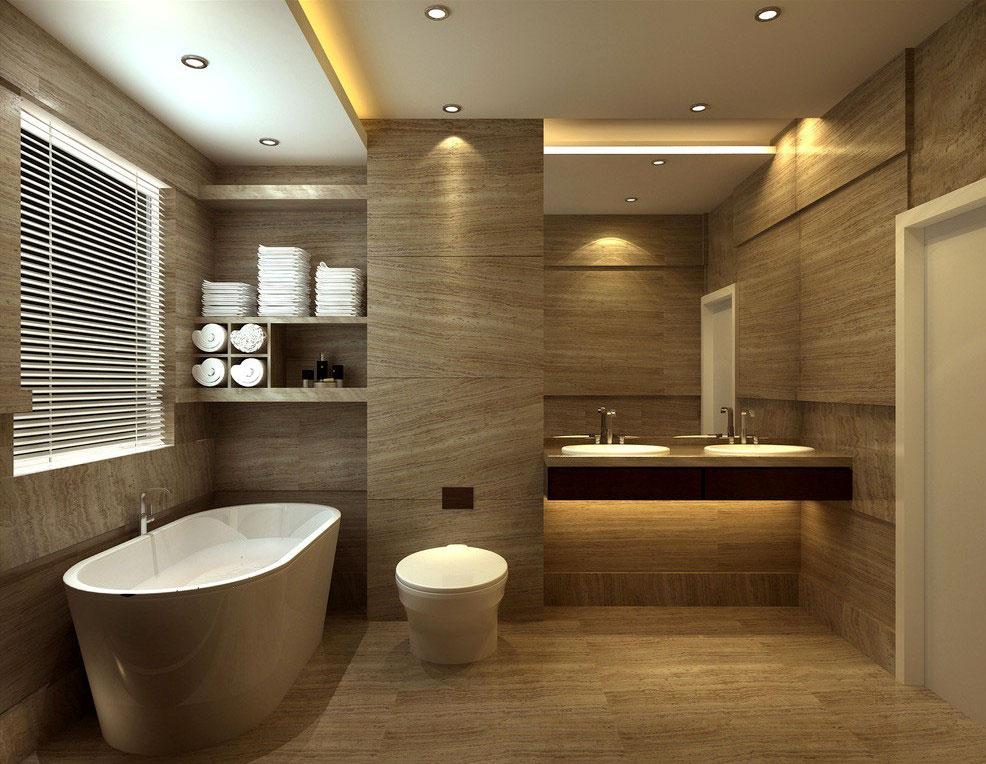 طراحی حمام مینیمال