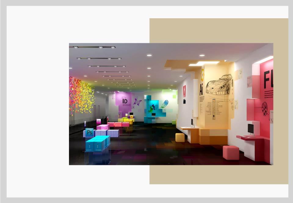 دیوار ها طراحی فضای کار