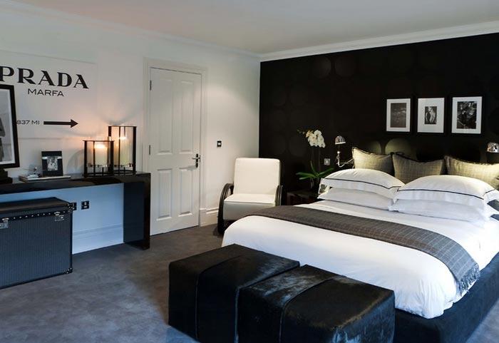 رنگ مشکی در دکوراسیون داخلی اتاق خواب