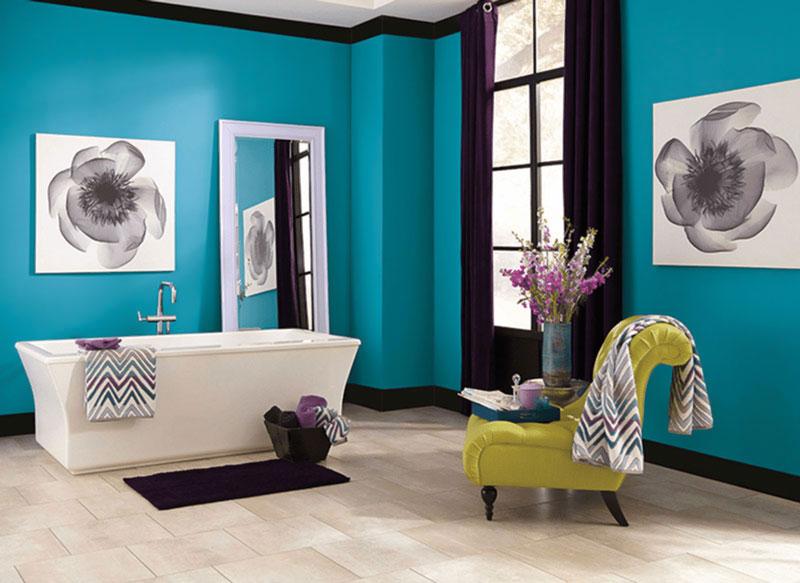 تأثیر رنگ های طراحی داخلی