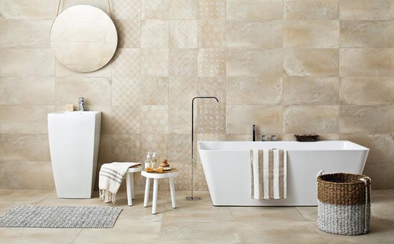 رنگ بژ در دکوراسیون داخلی حمام سنتی