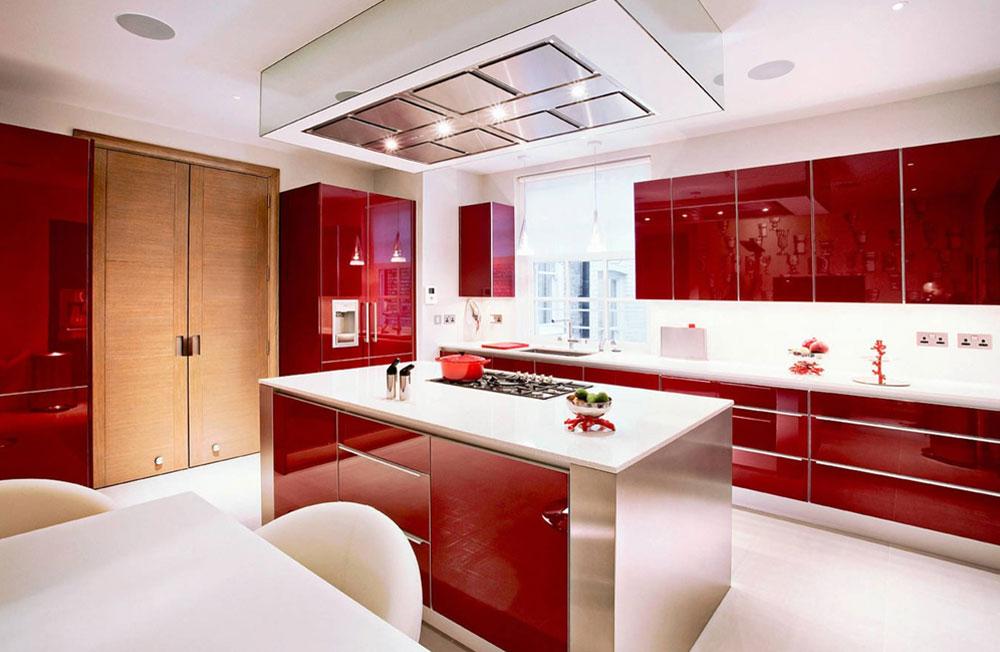 قرمز در دکوراسیون داخلی آشپزخانه