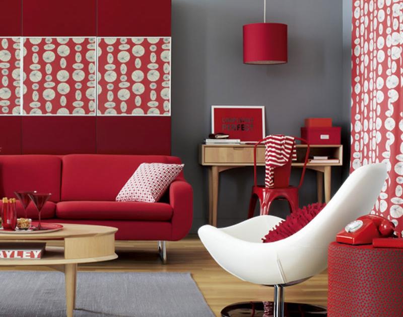 قرمز در دکوراسیون داخلی مدرن
