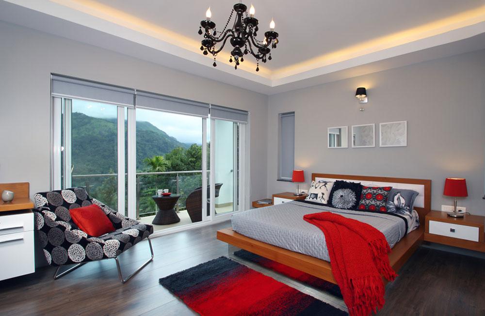 قرمز در دکوراسیون داخلی اتاق خواب