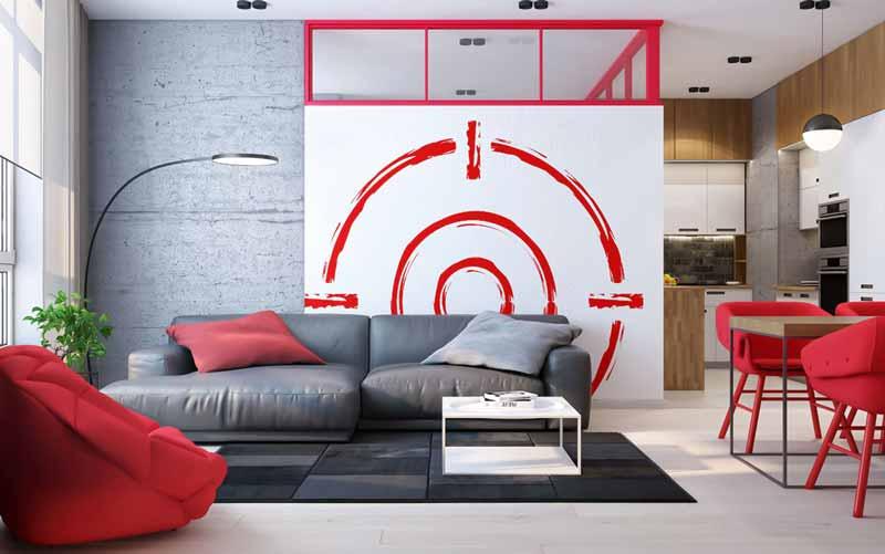 قرمز در دکوراسیون داخلی خانه