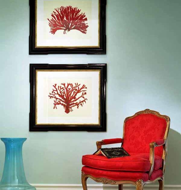 قرمز در دکوراسیون داخلی و تابلوها