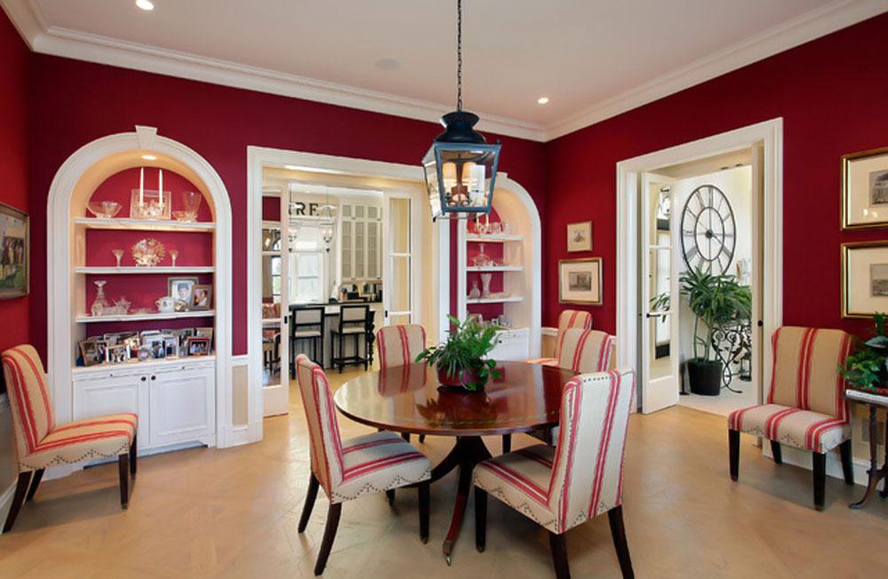 قرمز در دکوراسیون داخلی اتاق غذاخوری