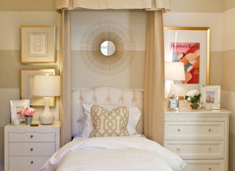 طلایی در دکوراسیون داخلی اتاق خواب