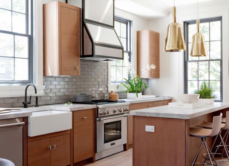 طلایی در دکوراسیون داخلی آشپزخانه