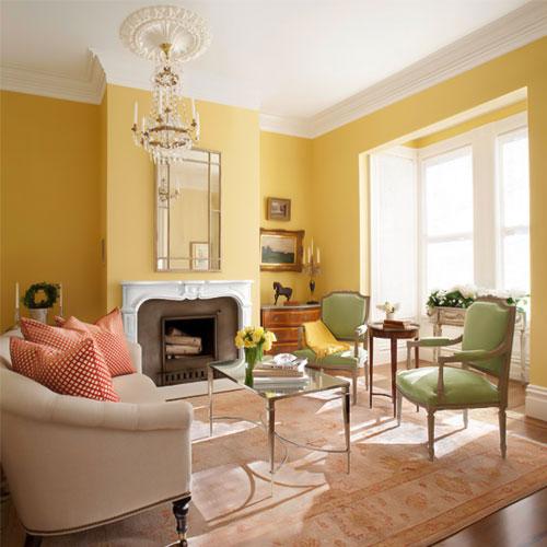 مبلمان زرد در طراحی داخلی