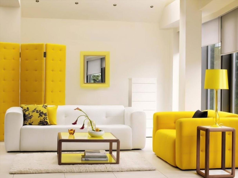 سفید و زرد در طراحی داخلی