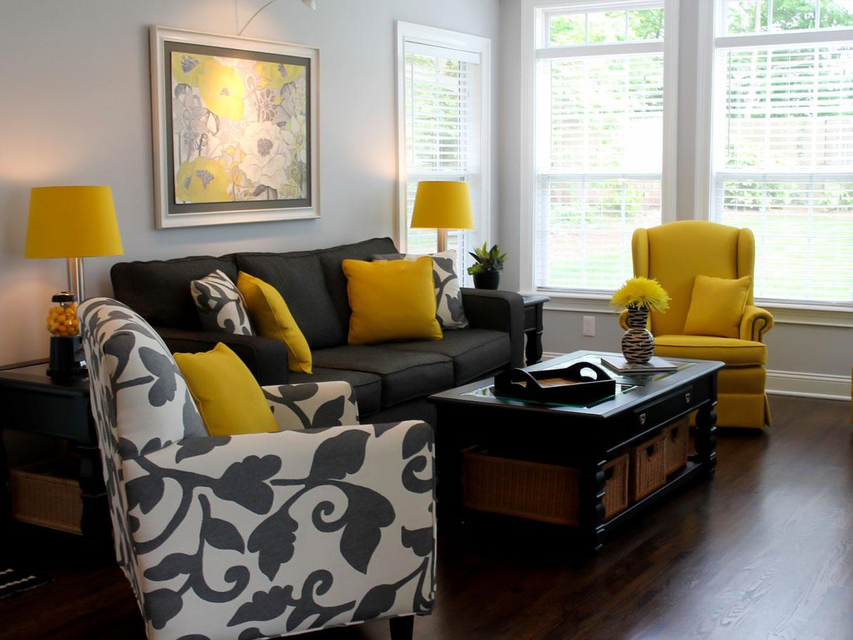 مشکی و زرد در طراحی داخلی