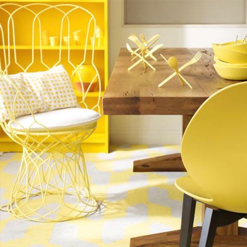 آشپزخانه زرد در طراحی داخلی