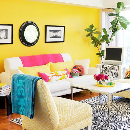 هارمونی زرد در طراحی داخلی
