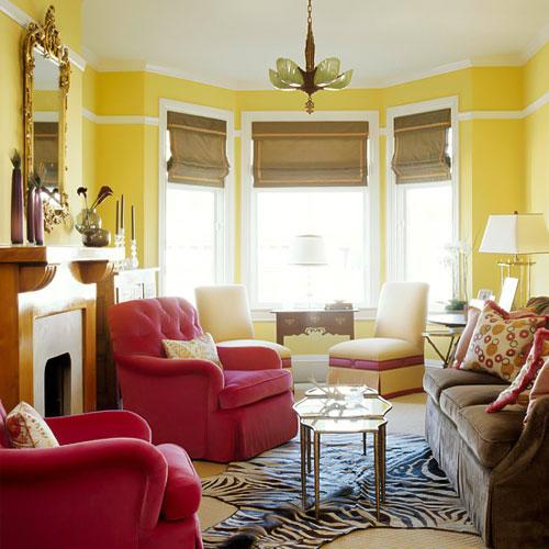 ترکیب زرد در طراحی داخلی