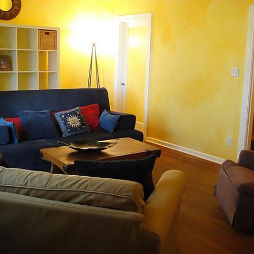دیوار زرد در طراحی داخلی