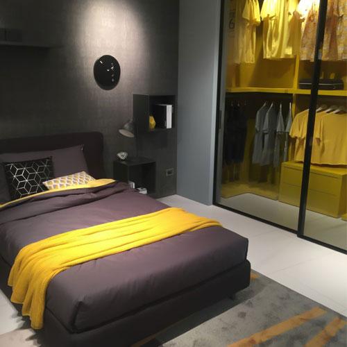 اتاق خواب زرد در طراحی داخلی