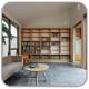 طراحی کتابخانه دنج