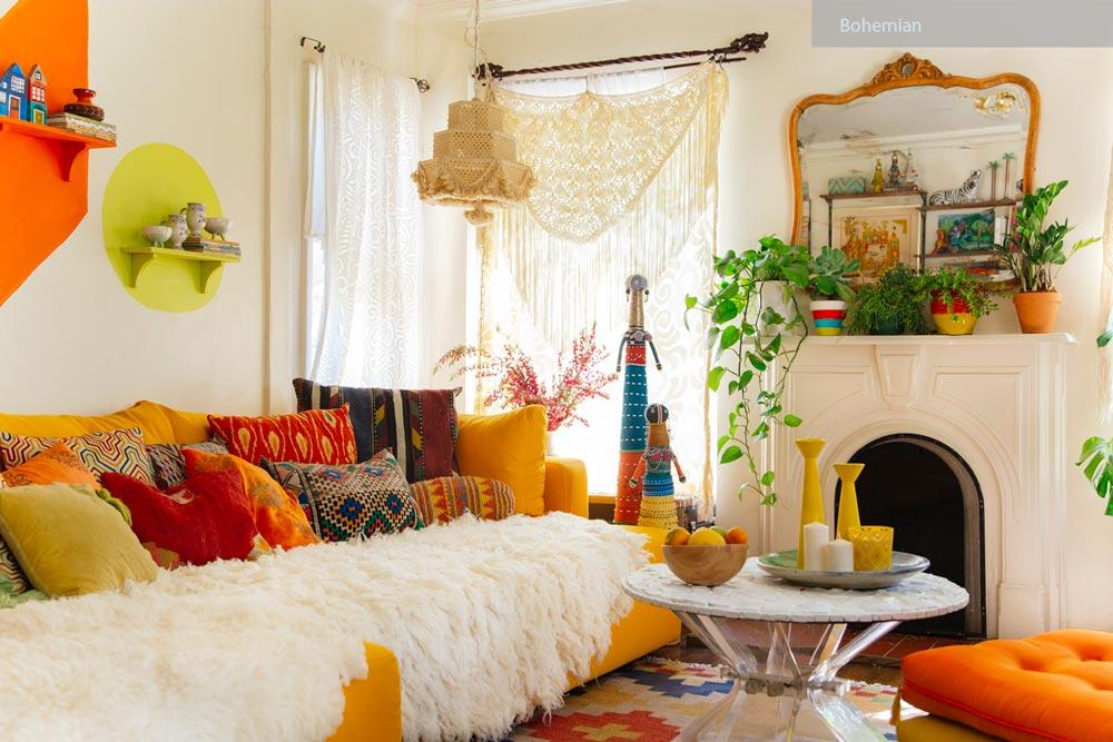 سبک طراحی داخلی بوهیمیایی