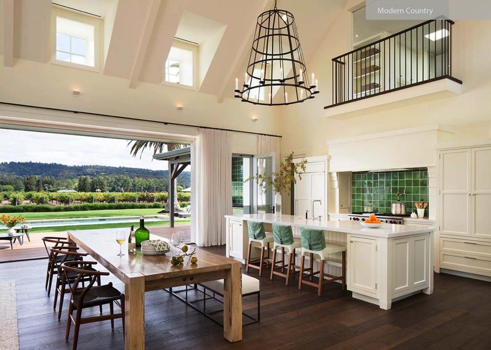 سبک طراحی داخلی کانتری مدرن