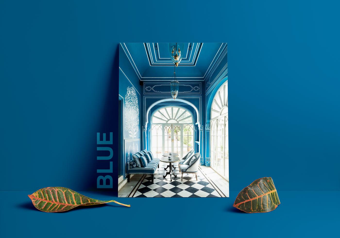 مزاج رنگ آبی