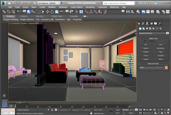 راهنمای طراحی داخلی در تری دی مکس