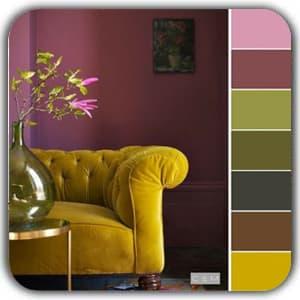 رنگ ها در دکوراسیون داخلی بر اساس هارمونی