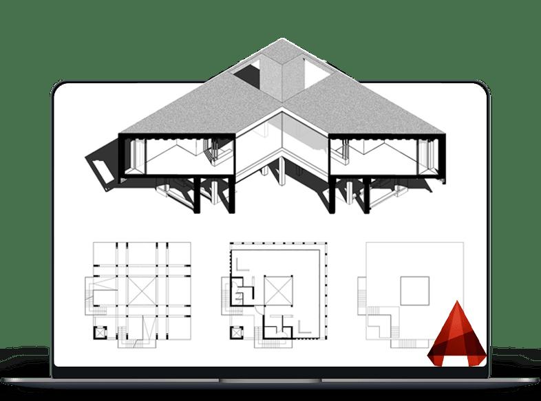 طراحی داخلی با تخصصی اتوکد