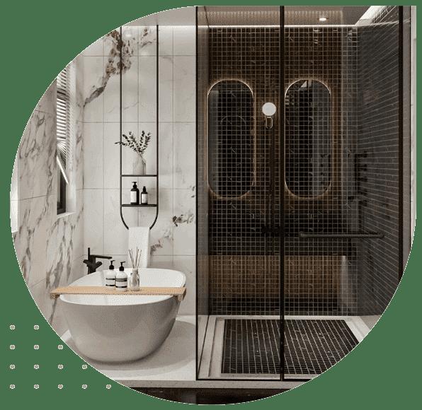 نقطه مرکزی طراحی یک حمام