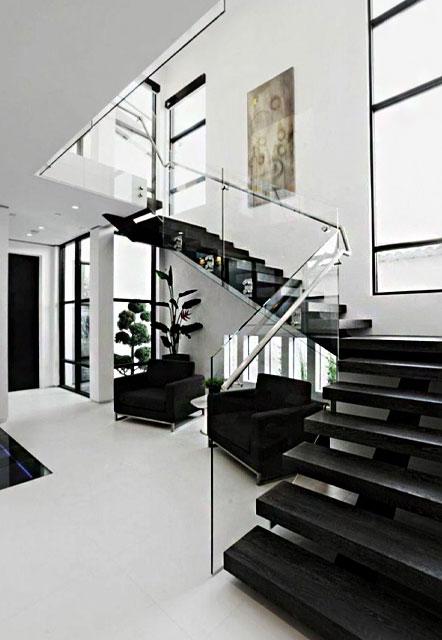 طراحی داخلی سیاه سفید