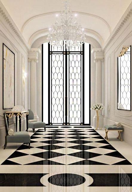 کاربرد طراحی داخلی سیاه و سفید