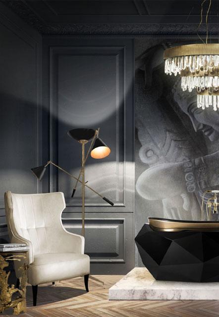 طراحی داخلی با ترکیب رنگ های سیاه و سفید