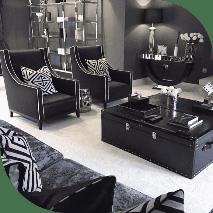 تاثیر رنگ سیاه و سفید در طراحی داخلی و دکوراسیون