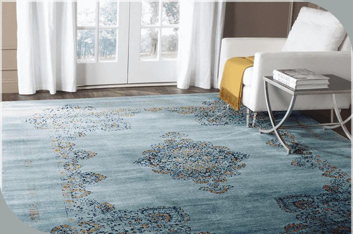 رنگ آبی در فرش