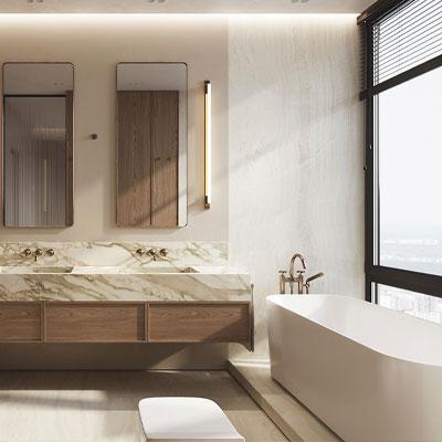 ایده برای دیزاین حمام های مدرن