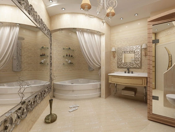 تاثیر تعویض پرده حمام
