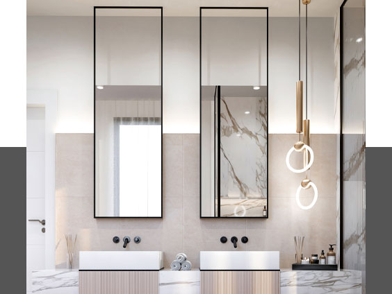 یک آینه متفاوت در حمام