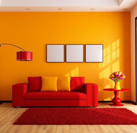 رنگ های زرد و قرمز