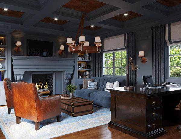 انتخاب میز و صندلی استاندارد برای طراحی دفتر خانگی منزل