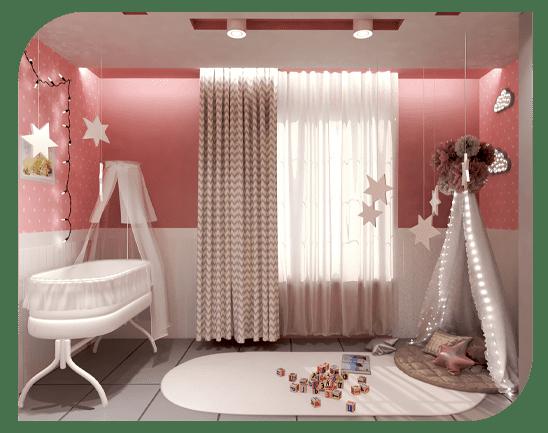 فضایی با سبک مراکشی در اتاق کودک