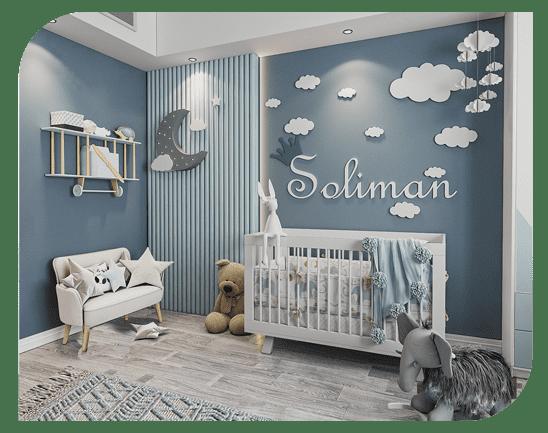 طراحی و اجرای پروژه اتاق نوزاد